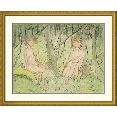 'Two Women In The Forest' by Otto Mueller Framed Painting Print DPF-266922-36-109