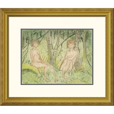 'Two Women In The Forest' by Otto Mueller Framed Painting Print DPF-266922-16-109