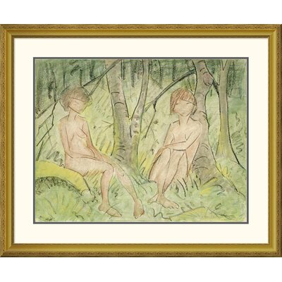'Two Women In The Forest' by Otto Mueller Framed Painting Print DPF-266922-30-109
