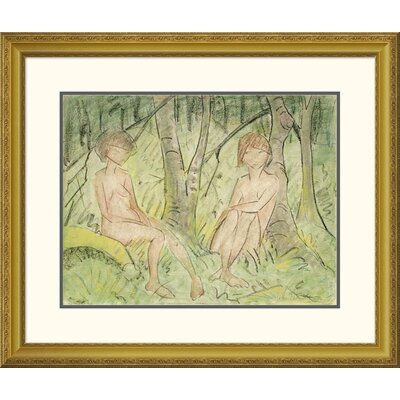 'Two Women In The Forest' by Otto Mueller Framed Painting Print DPF-266922-22-109