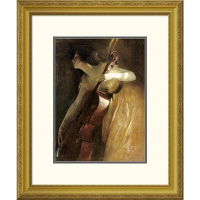 'A Ray of Sunlight (The Cellist)' by John White Alexander Framed Painting Print DPF-267626-16-109