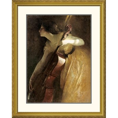 'A Ray of Sunlight (The Cellist)' by John White Alexander Framed Painting Print DPF-267626-30-109