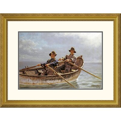 """'Heading Out' by John George Brown Framed Painting Print Size: 24.94"""" H x 32"""" W x 1.5"""" D DPF-267796-22-109"""