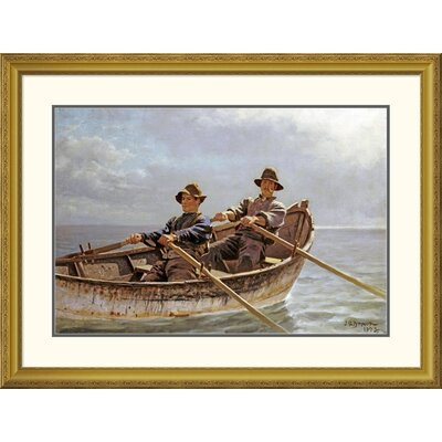 """'Heading Out' by John George Brown Framed Painting Print Size: 30.37"""" H x 40"""" W x 1.5"""" D DPF-267796-30-109"""