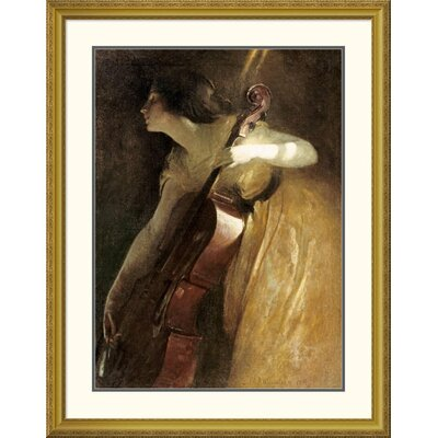 'A Ray of Sunlight (The Cellist)' by John White Alexander Framed Painting Print DPF-267626-36-109