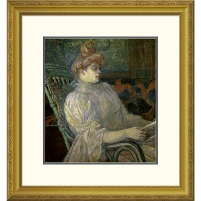'Woman Reading (Femme Lisant)' by Henri Toulouse-Lautrec Framed Painting Print DPF-278197-16-109