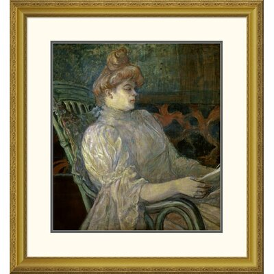 'Woman Reading (Femme Lisant)' by Henri Toulouse-Lautrec Framed Painting Print DPF-278197-22-109