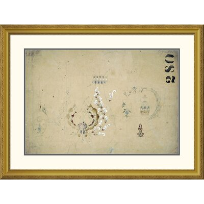 "'Original Design Sketch - Coffee Service' by Tiffany Studios Framed Graphic Art Size: 30.4"" H x 40"" W x 1.5"" D DPF-268563-30-109"