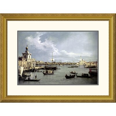 'In Venice' by Canaletto Framed Painting Print Size: 24.66