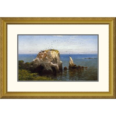 'Rocks On The Sonoma Coast, California' by Robert Swain Gifford Framed Painting Print Size: 22.59