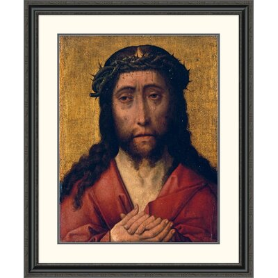 'Christ, the Man of Sorrows' by Aelbrecht Bouts Framed Painting Print Size: 40