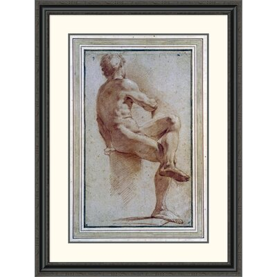 'A Male Nude Seated with His Back Turned' by Annibale Carracci Framed Painting Print DPF-264675-30-153