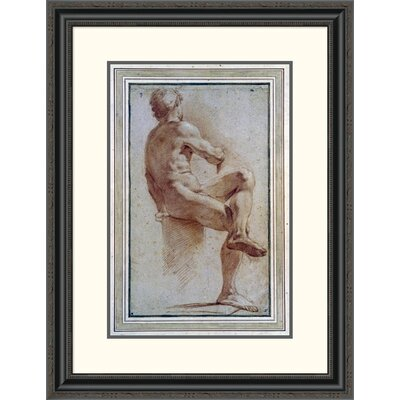 'A Male Nude Seated with His Back Turned' by Annibale Carracci Framed Painting Print DPF-264675-22-153