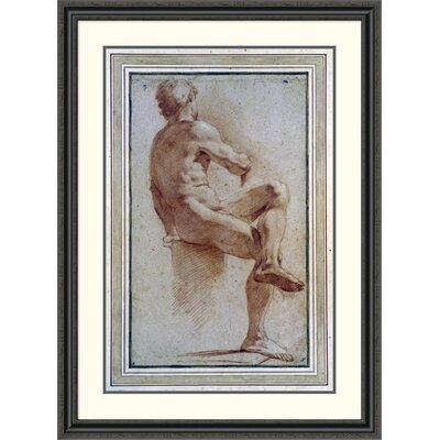 'A Male Nude Seated with His Back Turned' by Annibale Carracci Framed Painting Print DPF-264675-36-153