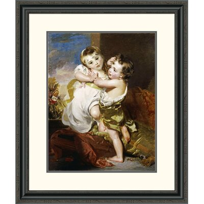 'The Proffered Kiss' by Thomas Lawrence Framed Painting Print Size: 32
