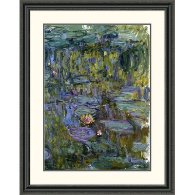 'Water Lilies' by Claude Monet Framed Painting Print Size: 32