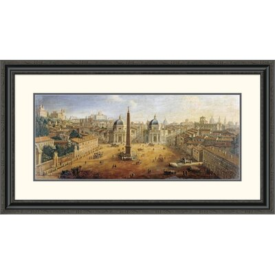 'Piazza Del Popolo, Rome' by Gaspar Van Wittel Framed Painting Print Size: 22.36
