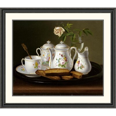 'Still Life of Porcelain and Biscuits' by George Forster Framed Painting Print Size: 39.99