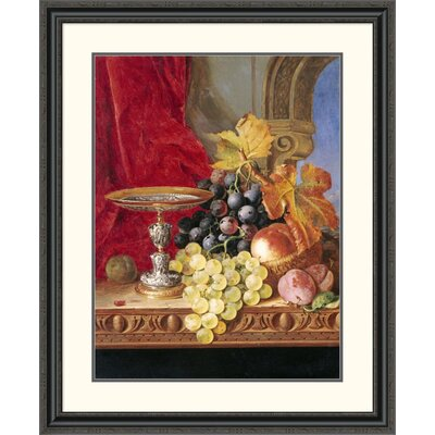 "'Grapes and a Peach' by Edward Ladell Framed Painting Print Size: 40"" H x 32.75"" W x 1.5"" D DPF-268211-30-153"