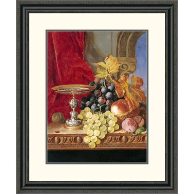 "'Grapes and a Peach' by Edward Ladell Framed Painting Print Size: 26"" H x 22.13"" W x 1.5"" D DPF-268211-16-153"