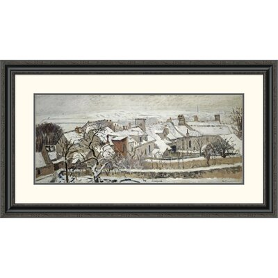 'Winter' by Camille Pissarro Framed Painting Print Size: 22.72
