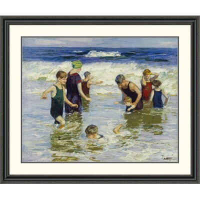 'The Bathers' by Edward Henry Potthast Framed Painting Print DPF-268400-36-153