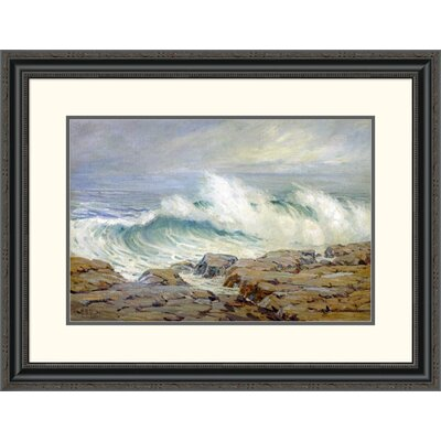 'Breaking Wave' by Anna Althea Hills Framed Painting Print Size: 24.76