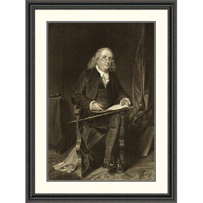 'Benjamin Franklin (1706-1790)' Framed Painting Print DPF-280688-36-153