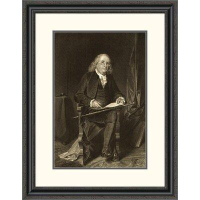'Benjamin Franklin (1706-1790)' Framed Painting Print DPF-280688-22-153