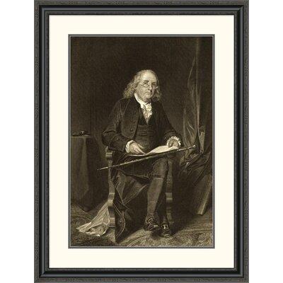 'Benjamin Franklin (1706-1790)' Framed Painting Print DPF-280688-30-153