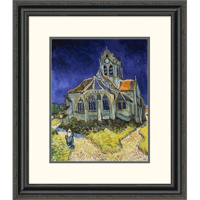 'The Church at Auvers' by Vincent Van Gogh Framed Painting Print DPF-281619-16-153