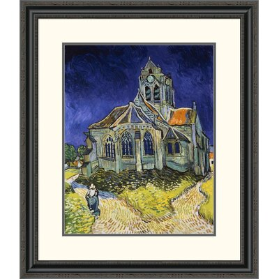'The Church at Auvers' by Vincent Van Gogh Framed Painting Print DPF-281619-22-153