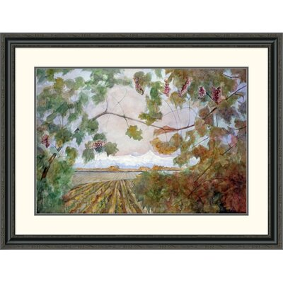 'Amongst the Vineyards' by Eduardo Audivert Framed Painting Print Size: 30.64