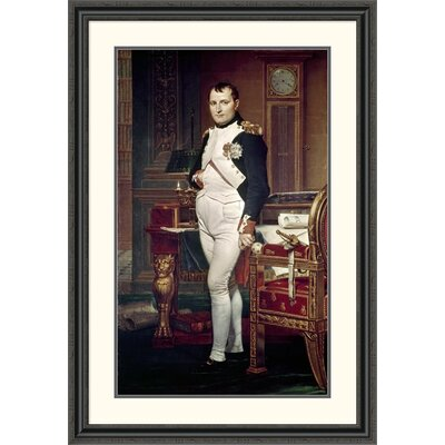 'Napoleon in his Study' by Jacques-Louis David Framed Painting Print Size: 46