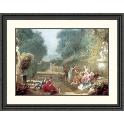 'A Game of Hot Cockles' by Jean Honore Fragonard Framed Painting Print Size: 31.51