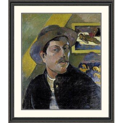 'Portrait of the Artist, (Portrait de l'Artiste) (i)' by Paul Gauguin Framed Painting Print Size: 46