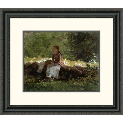 'On the Fence' by Winslow Homer Framed Painting Print Size: 22.62