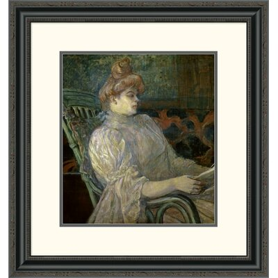 'Woman Reading (Femme Lisant)' by Henri Toulouse-Lautrec Framed Painting Print DPF-278197-16-153