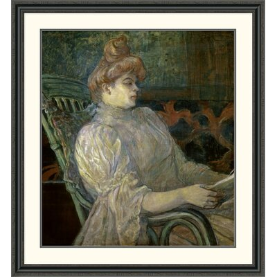'Woman Reading (Femme Lisant)' by Henri Toulouse-Lautrec Framed Painting Print DPF-278197-36-153