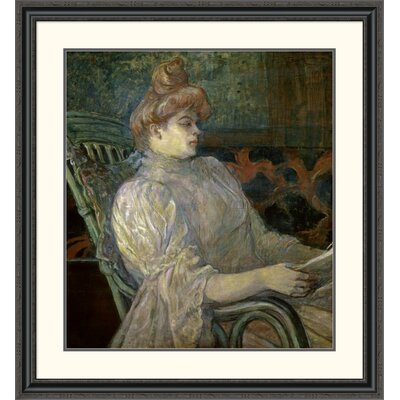 'Woman Reading (Femme Lisant)' by Henri Toulouse-Lautrec Framed Painting Print DPF-278197-30-153