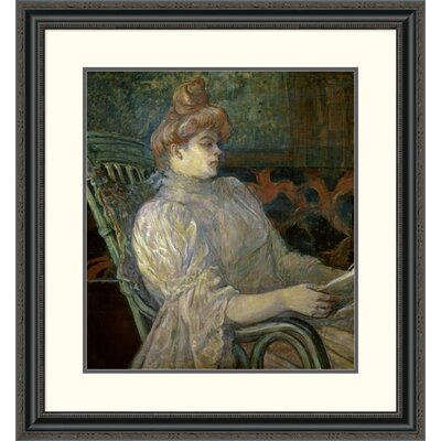 'Woman Reading (Femme Lisant)' by Henri Toulouse-Lautrec Framed Painting Print DPF-278197-22-153