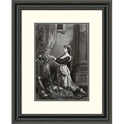 'Joan of Arc at Prayer' Framed Painting Print Size: 26
