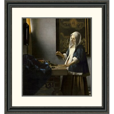 'Woman Holding a Balance' by Johannes Vermeer Framed Painting Print Size: 32