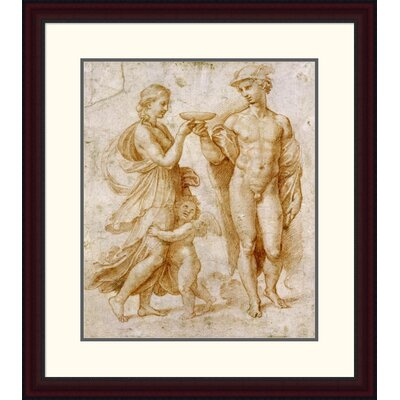 'Mercury Offering the Cup of Immortality to Psyche' by Raphael Framed Painting Print DPF-265383-22-289