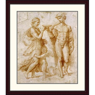 'Mercury Offering the Cup of Immortality to Psyche' by Raphael Framed Painting Print DPF-265383-30-289