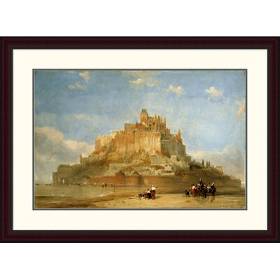 'Mont St Michel from the Sands' by David Roberts Framed Painting Print Size: 27.65