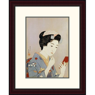 'A Maiko Applying Rouge to Her Lips' by Hashiguchi Goyo Framed Painting Print Size: 24