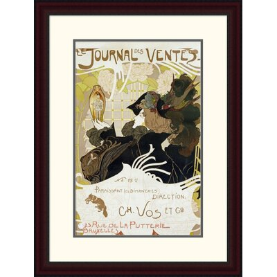 'Le Journal Des Ventes' by Georges De Feure Framed Vintage Advertisement Size: 30