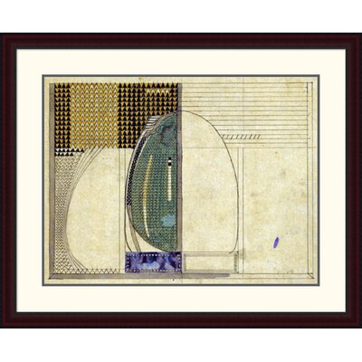 'Design, 1916 for W.J Bassett-Lowke Esq' by Charles Rennie Mackintosh Framed Painting Print Size: 30.74