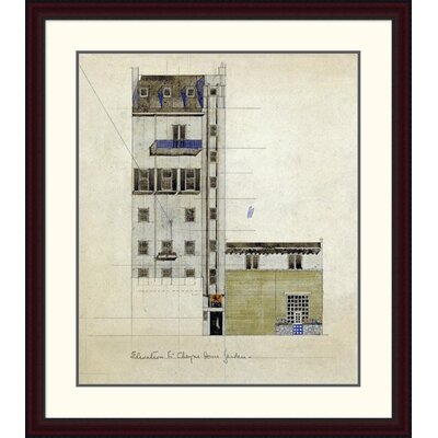"'London, Elevation of Proposed Studio, 1920' by Charles Rennie Mackintosh Framed Painting Print Size: 38"" H x 33.34"" W x 1.5"" D DPF-266806-30-289"